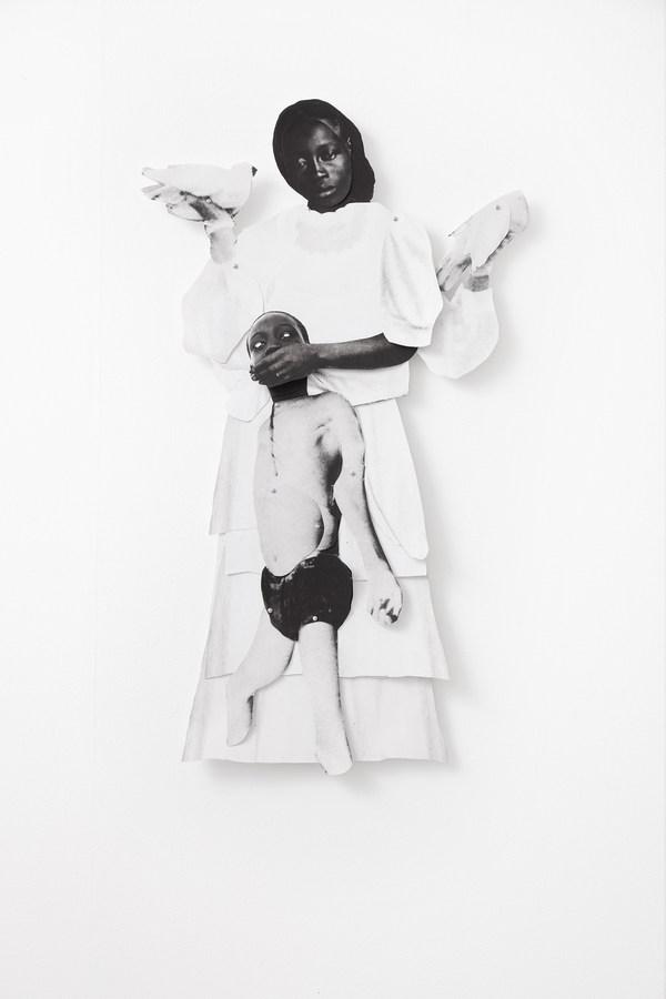 Frida-Orupabo-Untitled-2018-collage-with-paper-pins-mounted-on-aluminium_Photo-Carl-Henrik-Tillberg